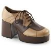 JAZZ-06 Tan/Brown Faux Leather